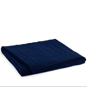 RALPH LAUREN NAVY BLANKET